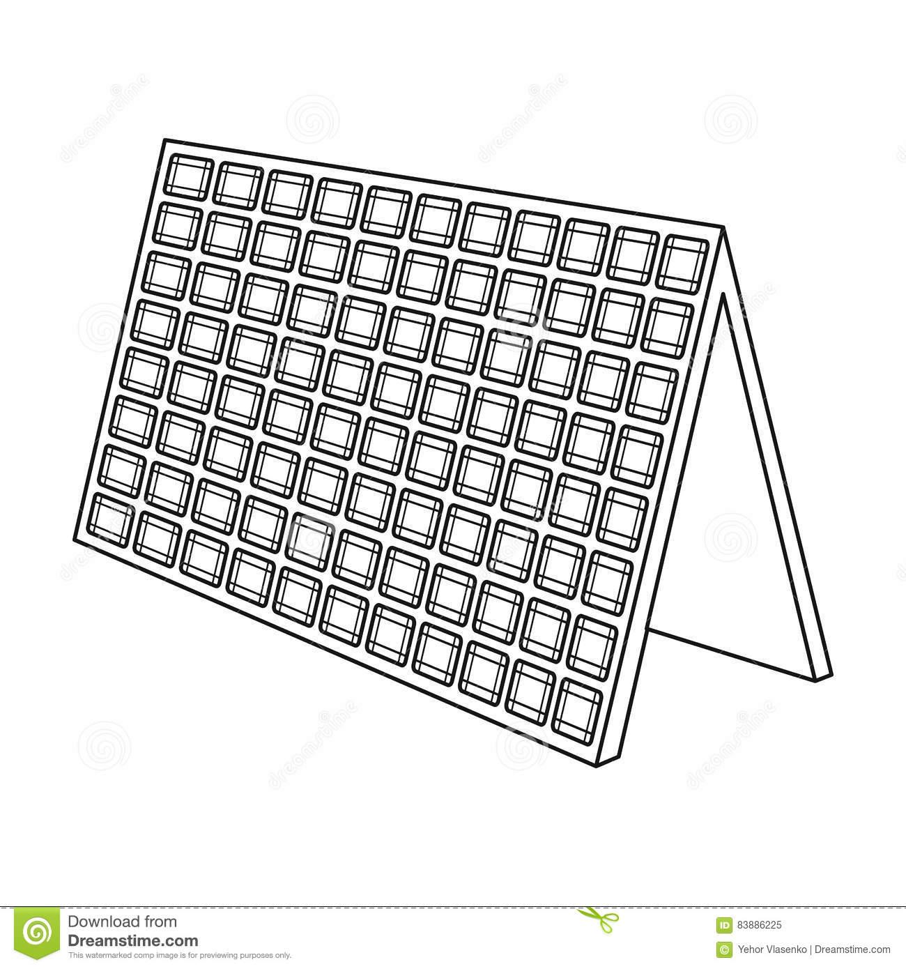 Solar Panel Illustration Royalty Free Cartoon