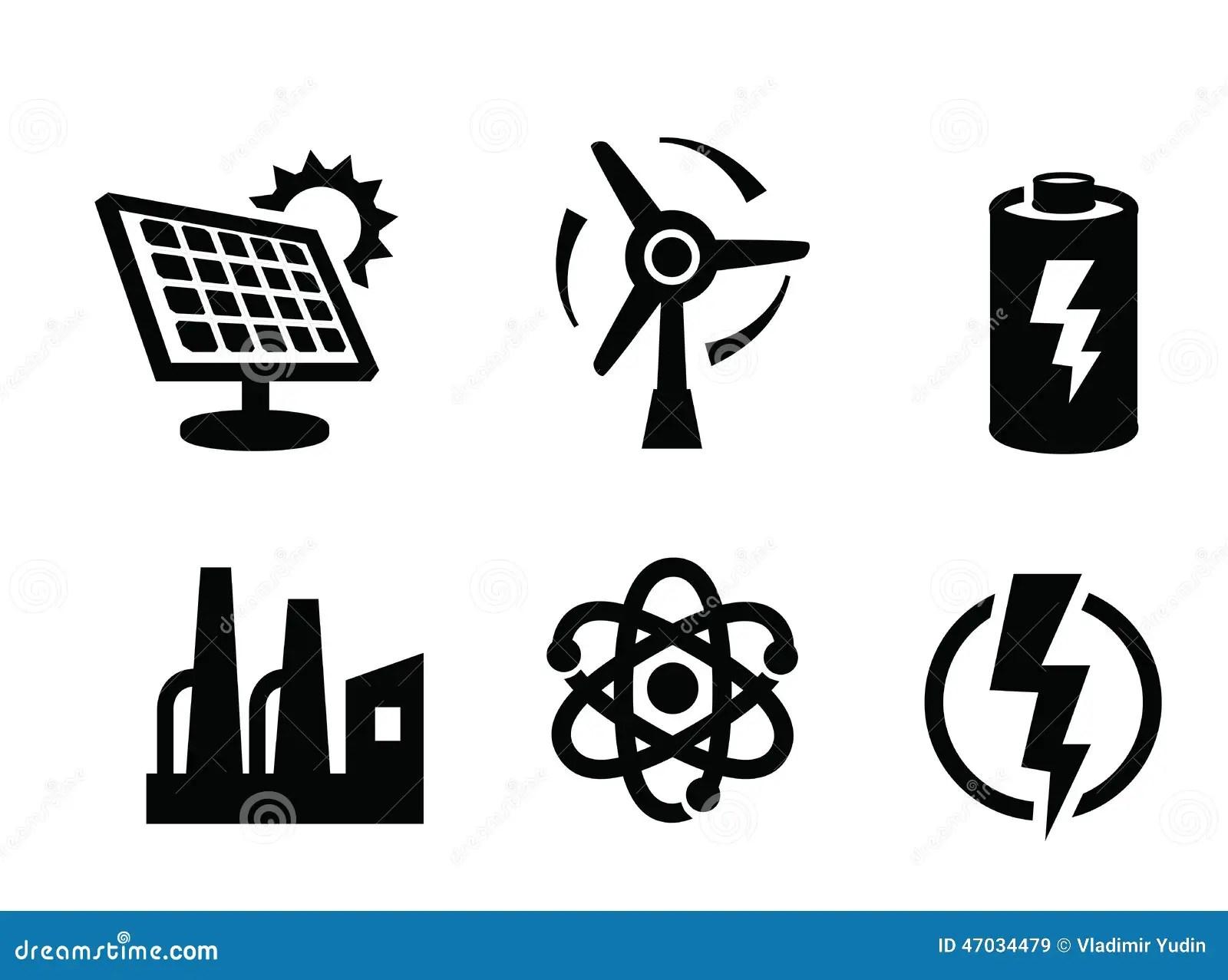 Solar Panel Icon Stock Vector Illustration Of