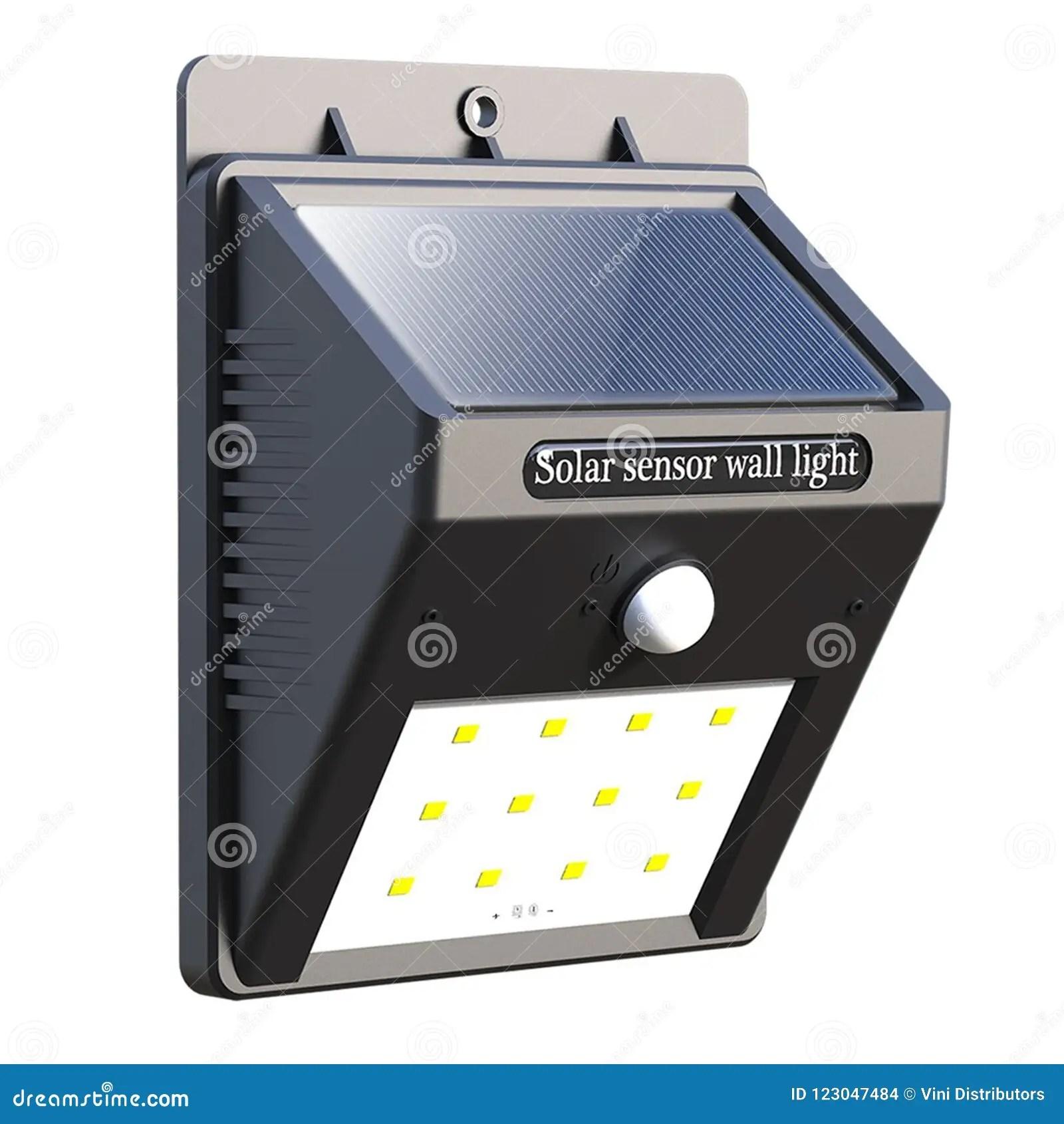 https www dreamstime com solar sensor wall light solar sensor wall light isolated white background primary application outdoor lighting wall hallway image123047484