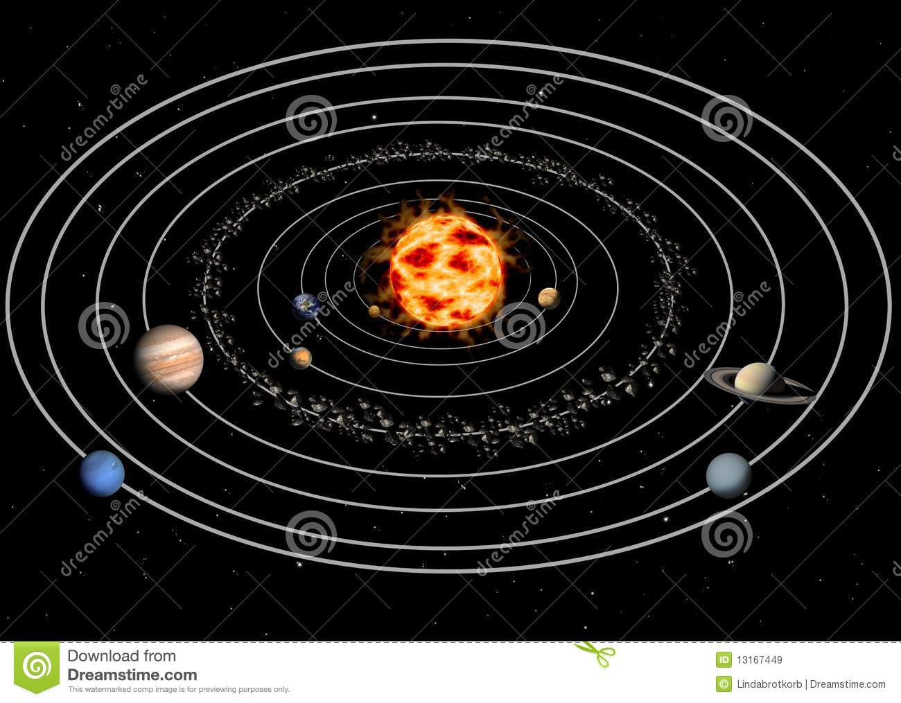 Solar System Stock Illustration Illustration Of Neptun