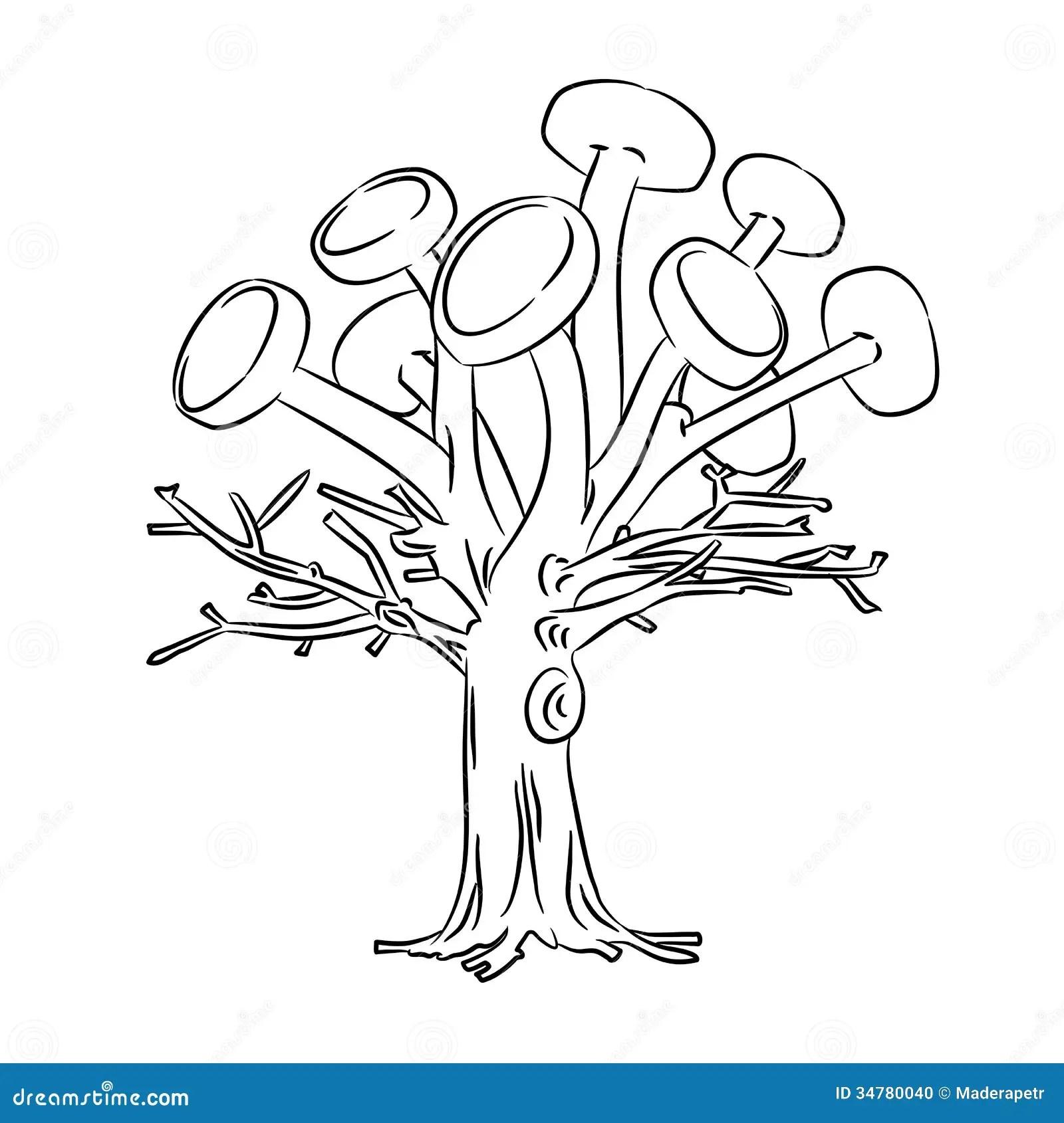 Solar Tree Stock Illustration Illustration Of