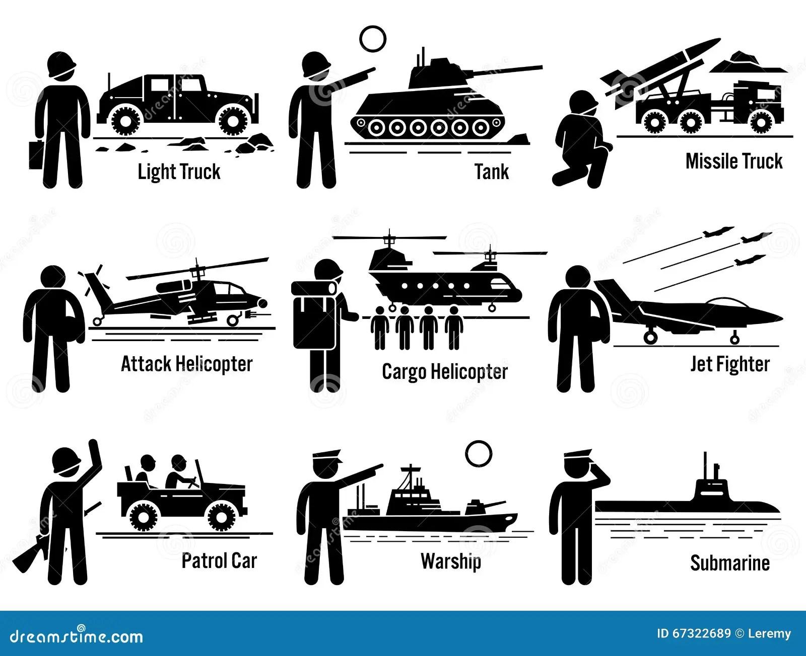 Soldato Transportation Set Clipart Dell Esercito Dei