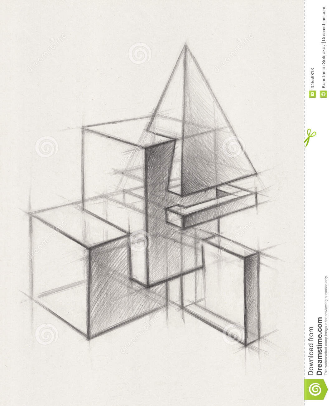 Solid Geometric Shapes Stock Illustration Illustration Of