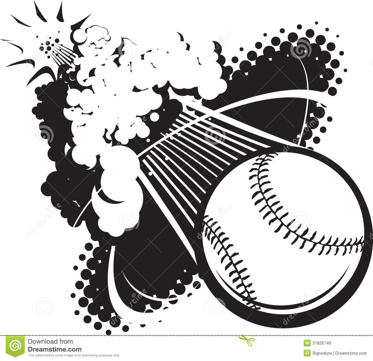 Sonic Boom Baseball Stock Vector Image Of Explosion