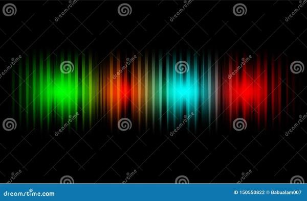 Sound Waves Of Light Color On A Dark Background ...