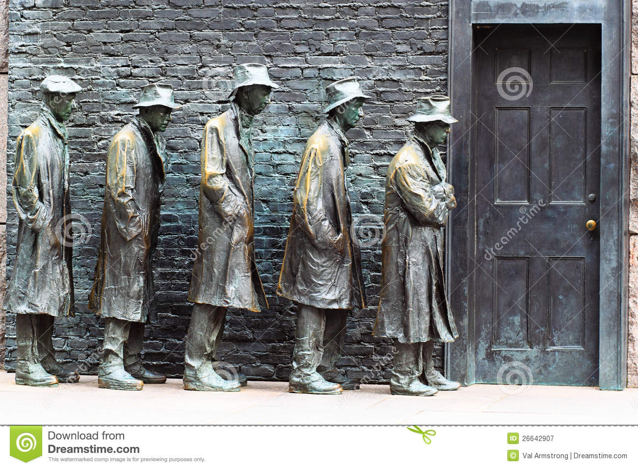 Soup Kitchen At FDR Memorial Stock Image Image Of