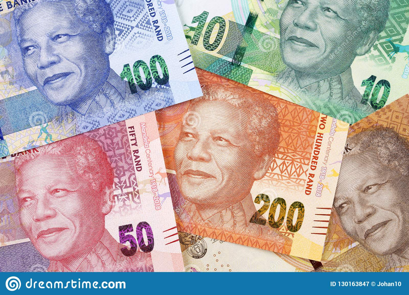 South African Money A Background Stock Image