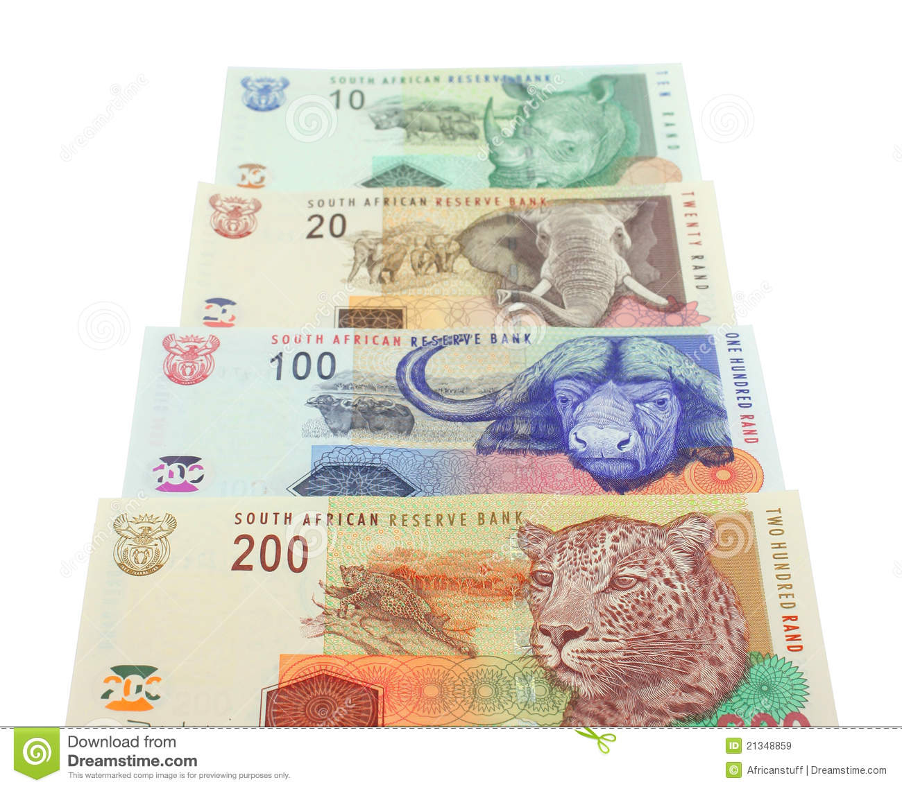 South African Money Notes Stock Image Image Of Exchange
