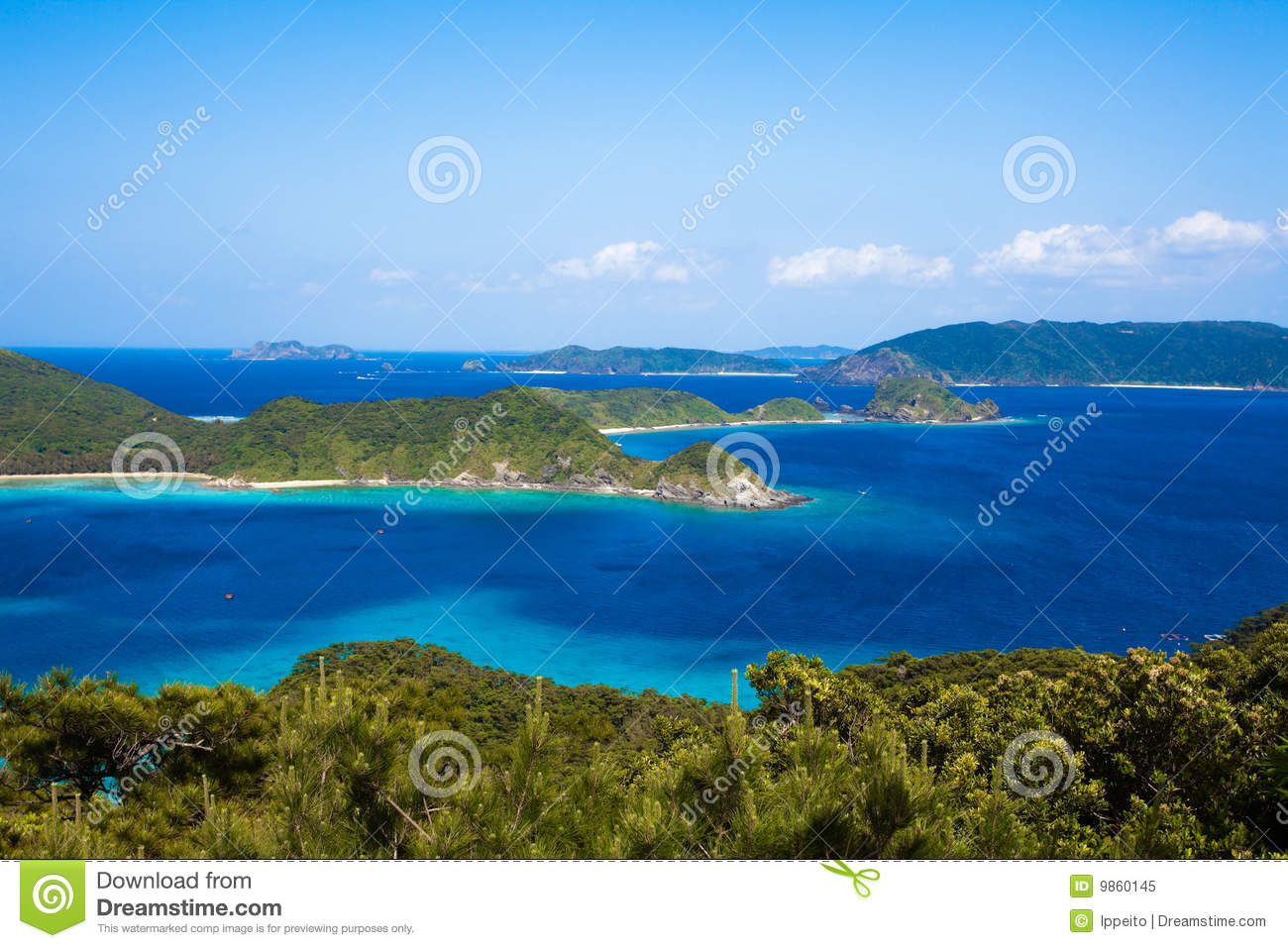 Southern Japanese Islands From Above Royalty Free Stock