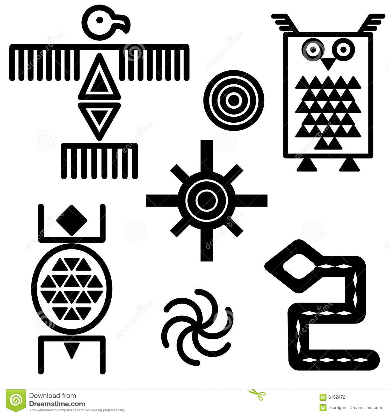 Southwestern Icons Stock Vector Image Of Illustration