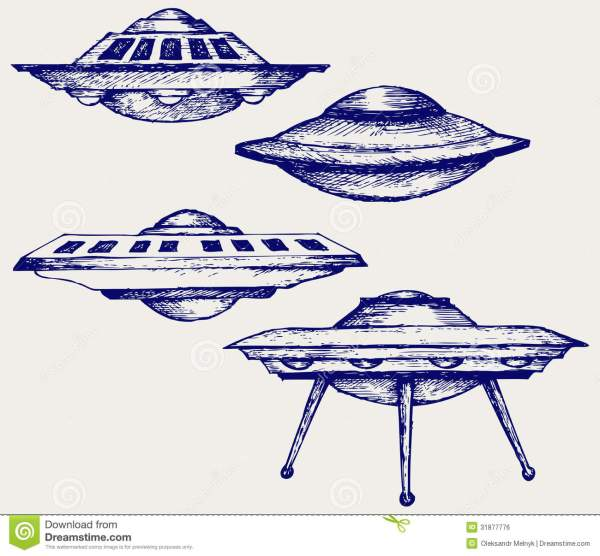 Space Flying Saucer Royalty Free Stock Image Image 31877776