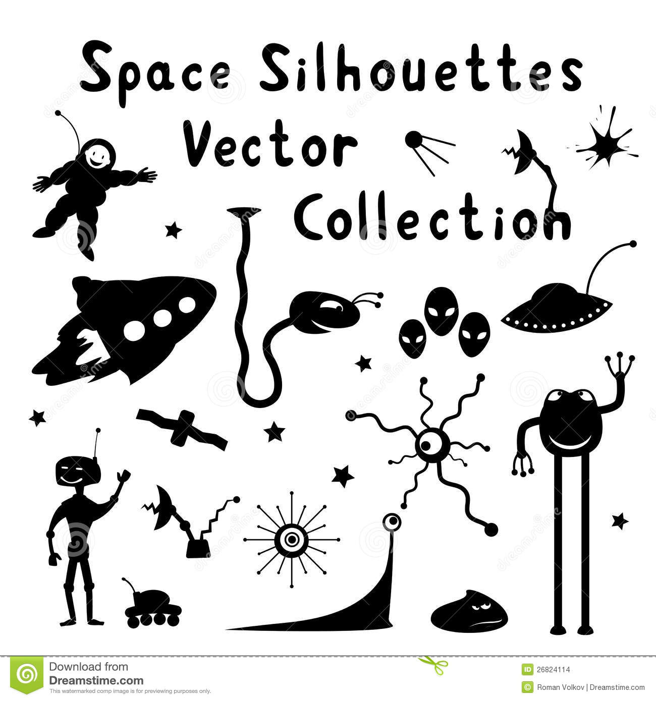 Space Silhouettes Stock Images
