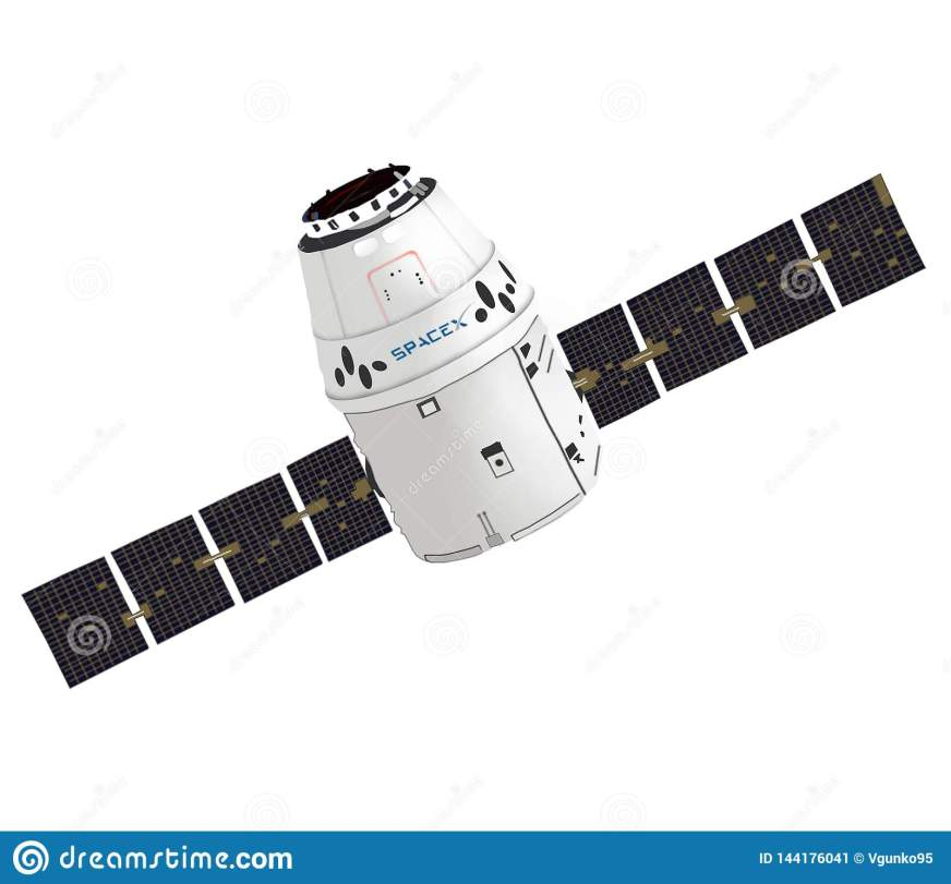 SpaceX Dragon Spacecraft Capsule. Vector Graphic. Isolated ...