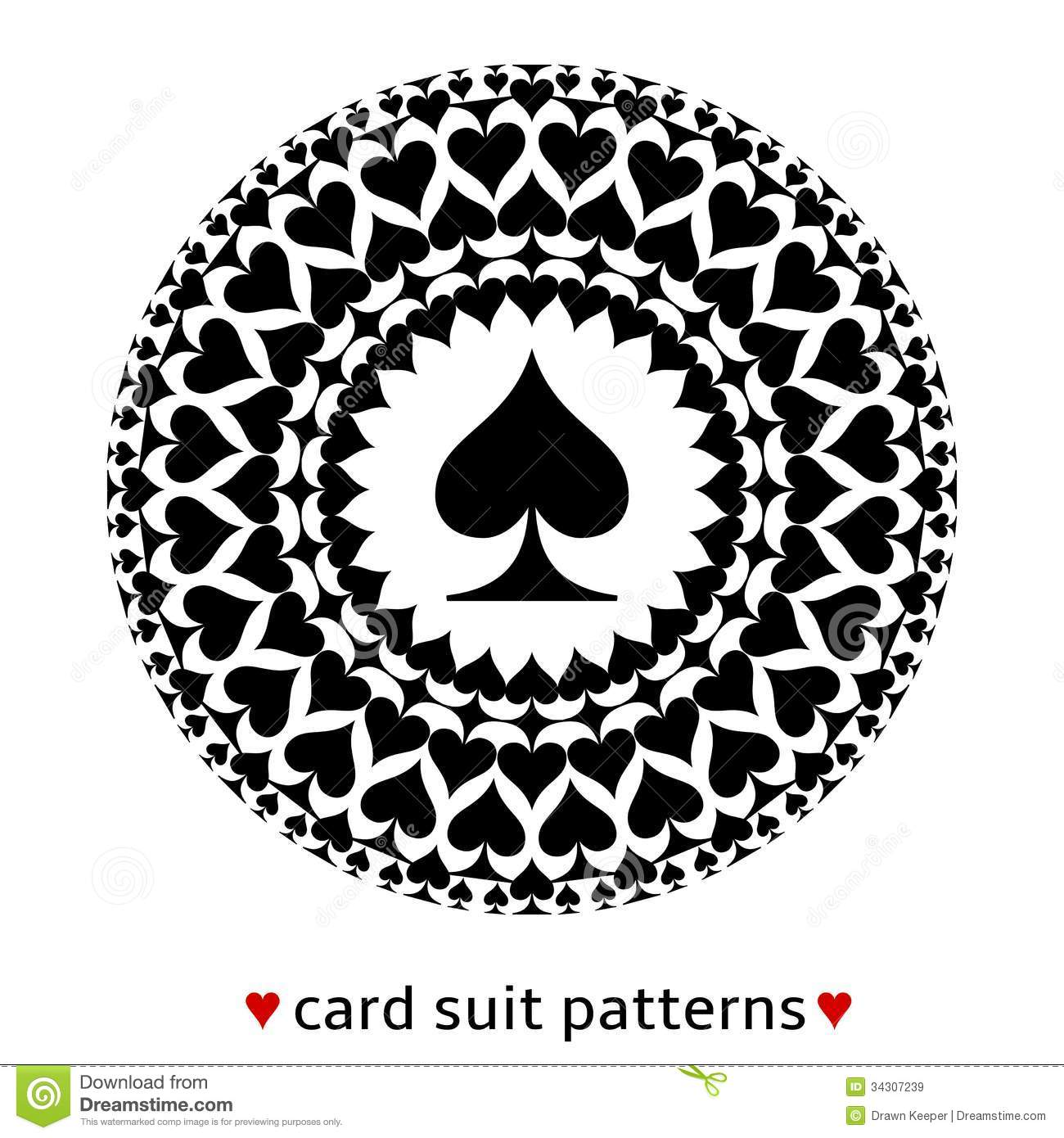 Spade Card Suit Pattern Royalty Free Stock Images