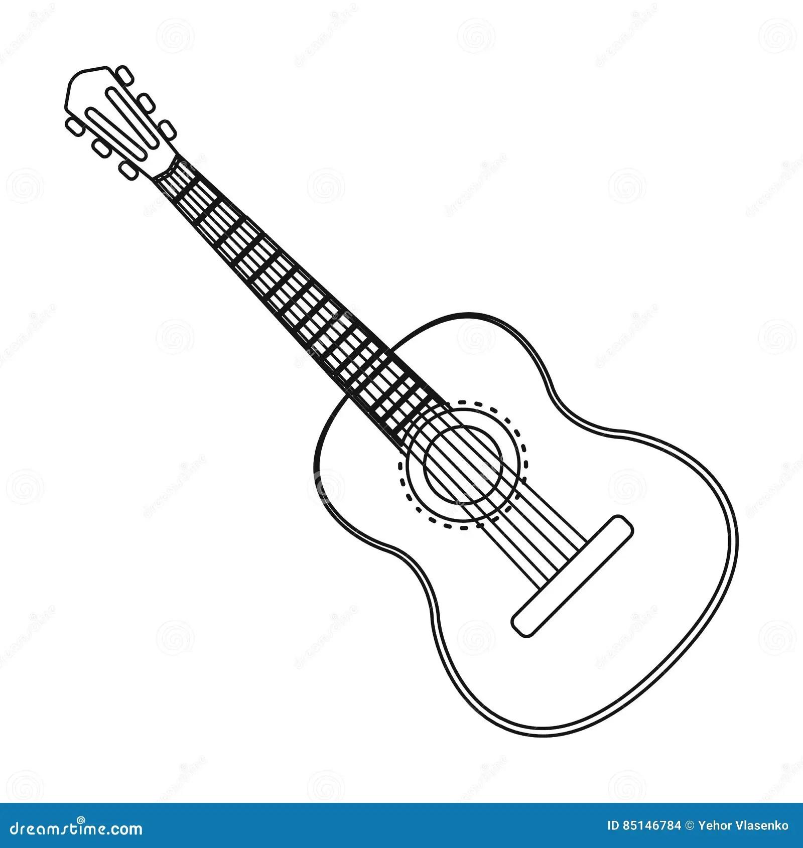 Acoustic Guitar Stock Vector Illustration Cartoon Vector