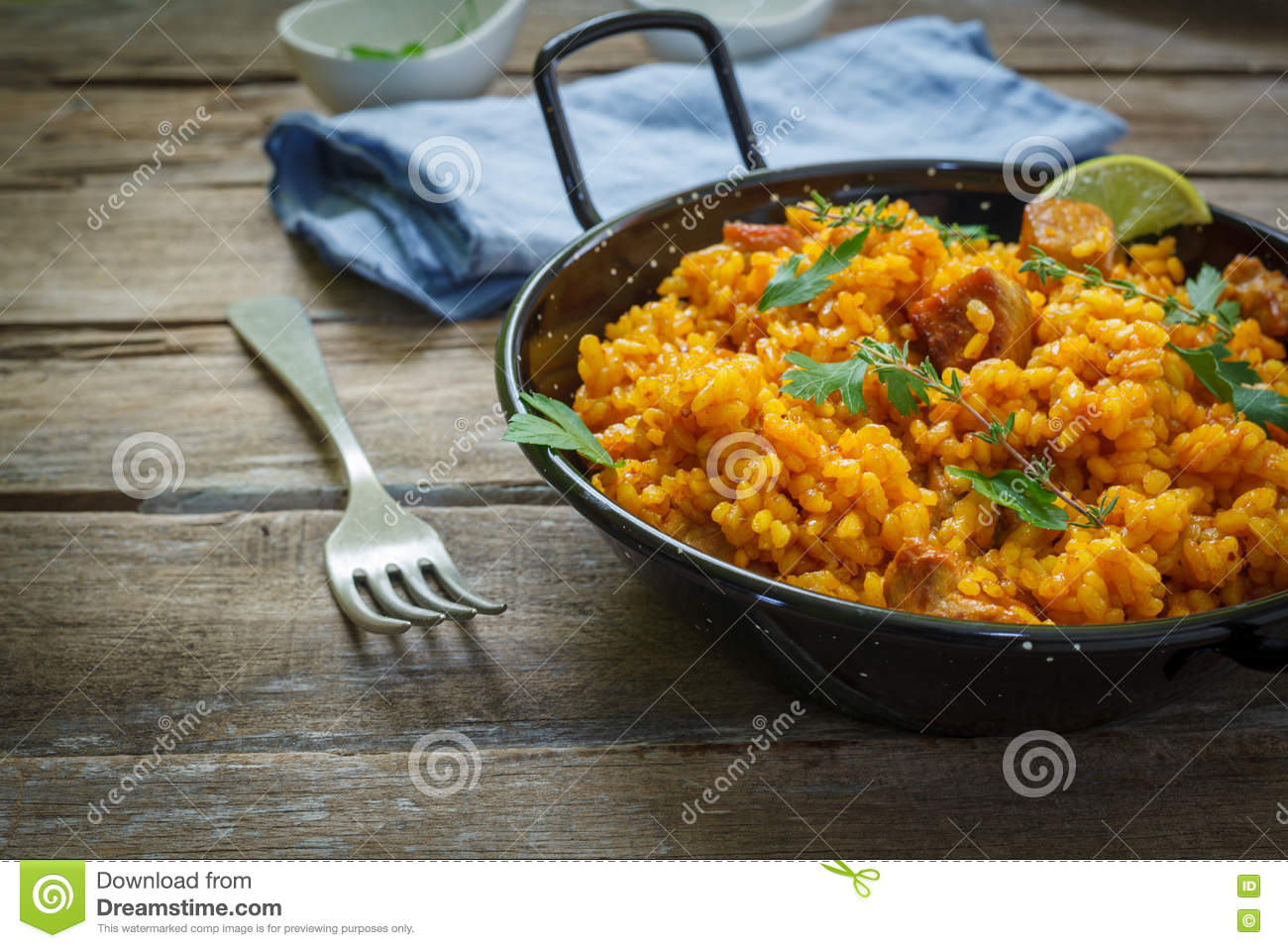 Spanish Food Stock Photo Image Of Dinner Rustic Orange