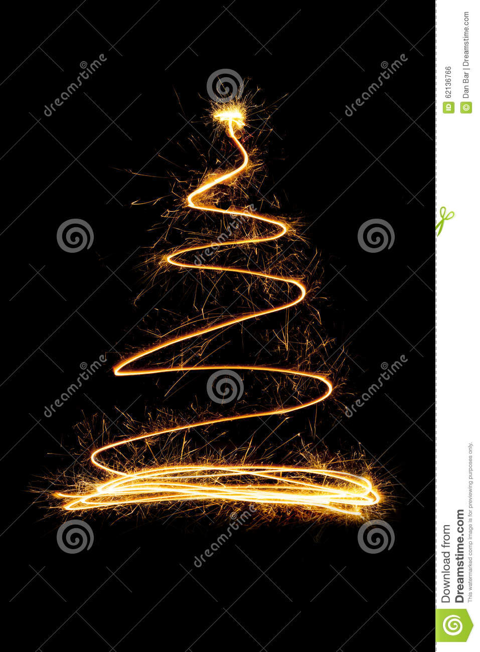 Sparkle Firework Christmas Tree Stock Illustration Image