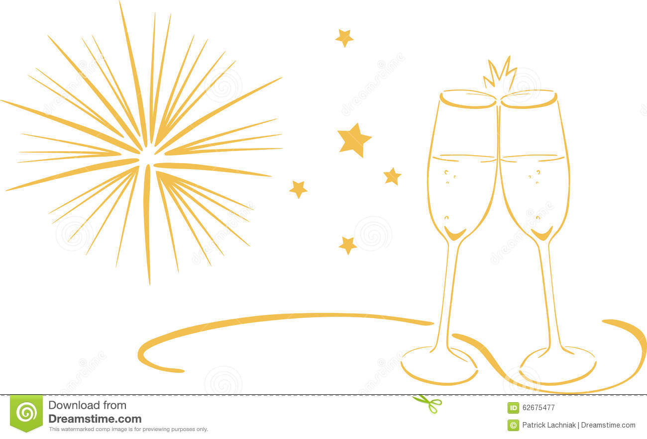 wine glass new year clip art