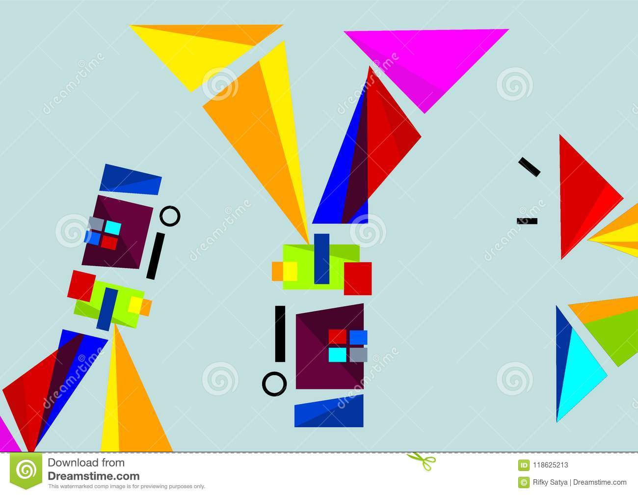 Visual Technology And Shapes Design Stock Vector