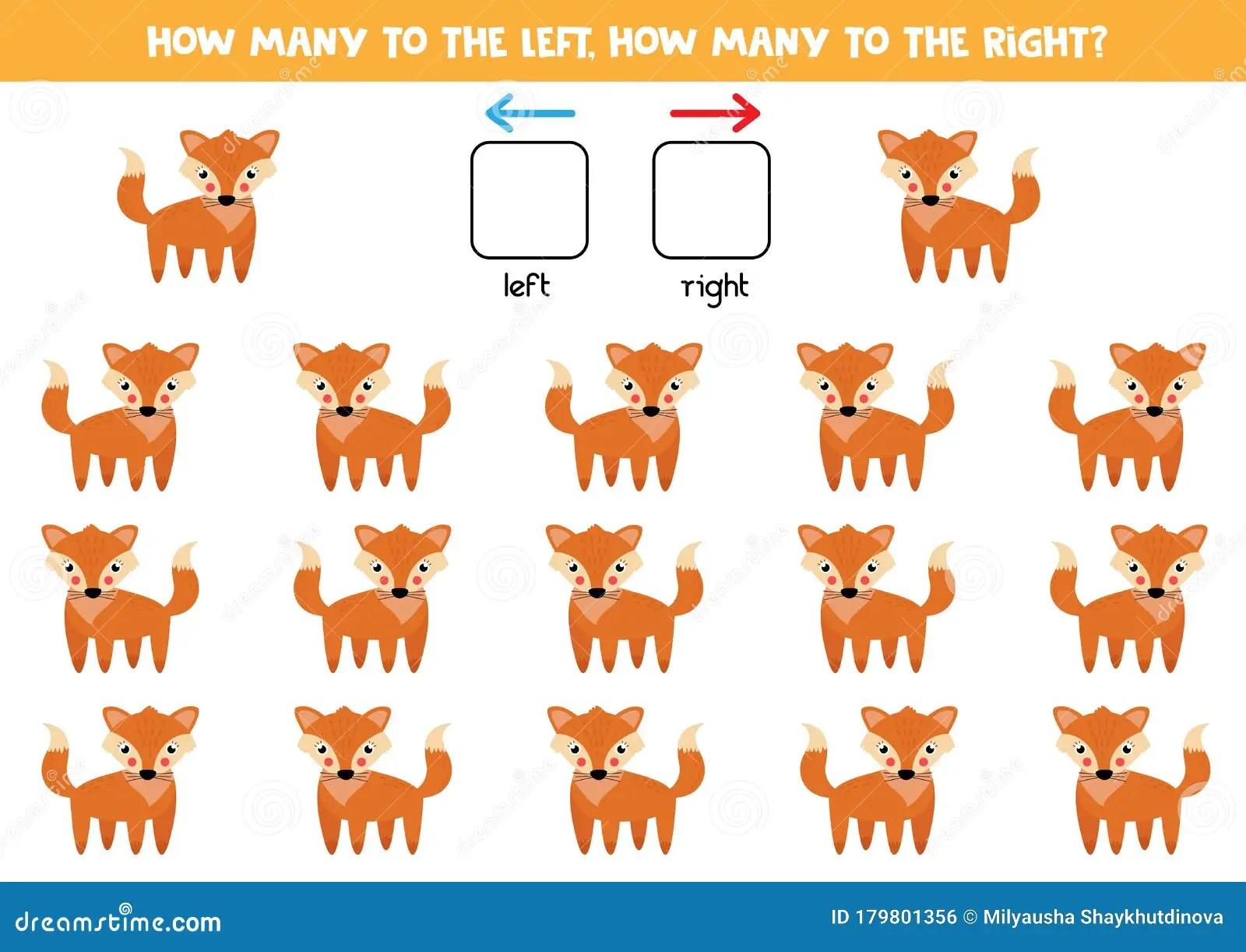 Spatial Orientation Foe Kids Left Or Right Cute Cartoon