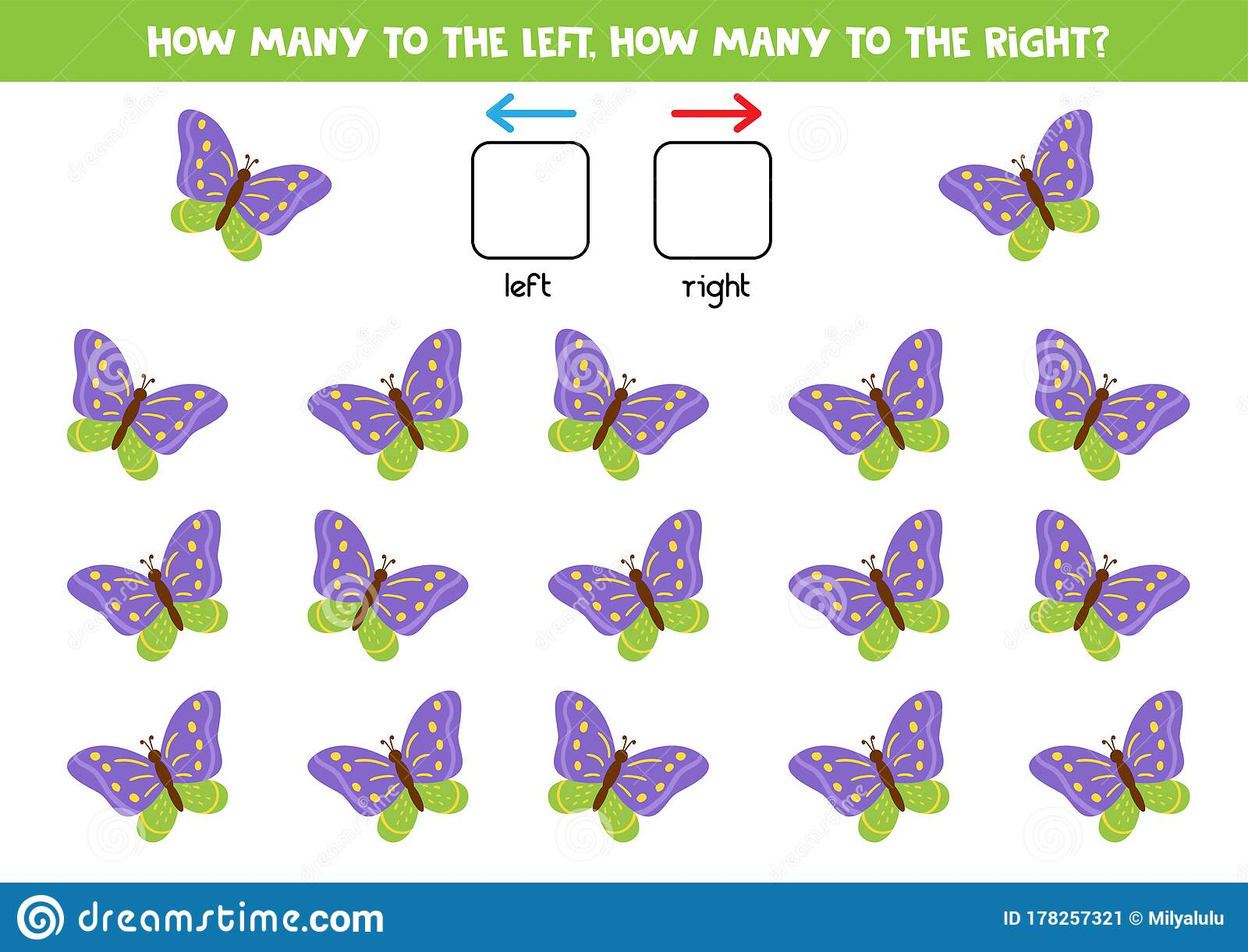 Spatial Orientation For Kids How Many Butterflies Fly To