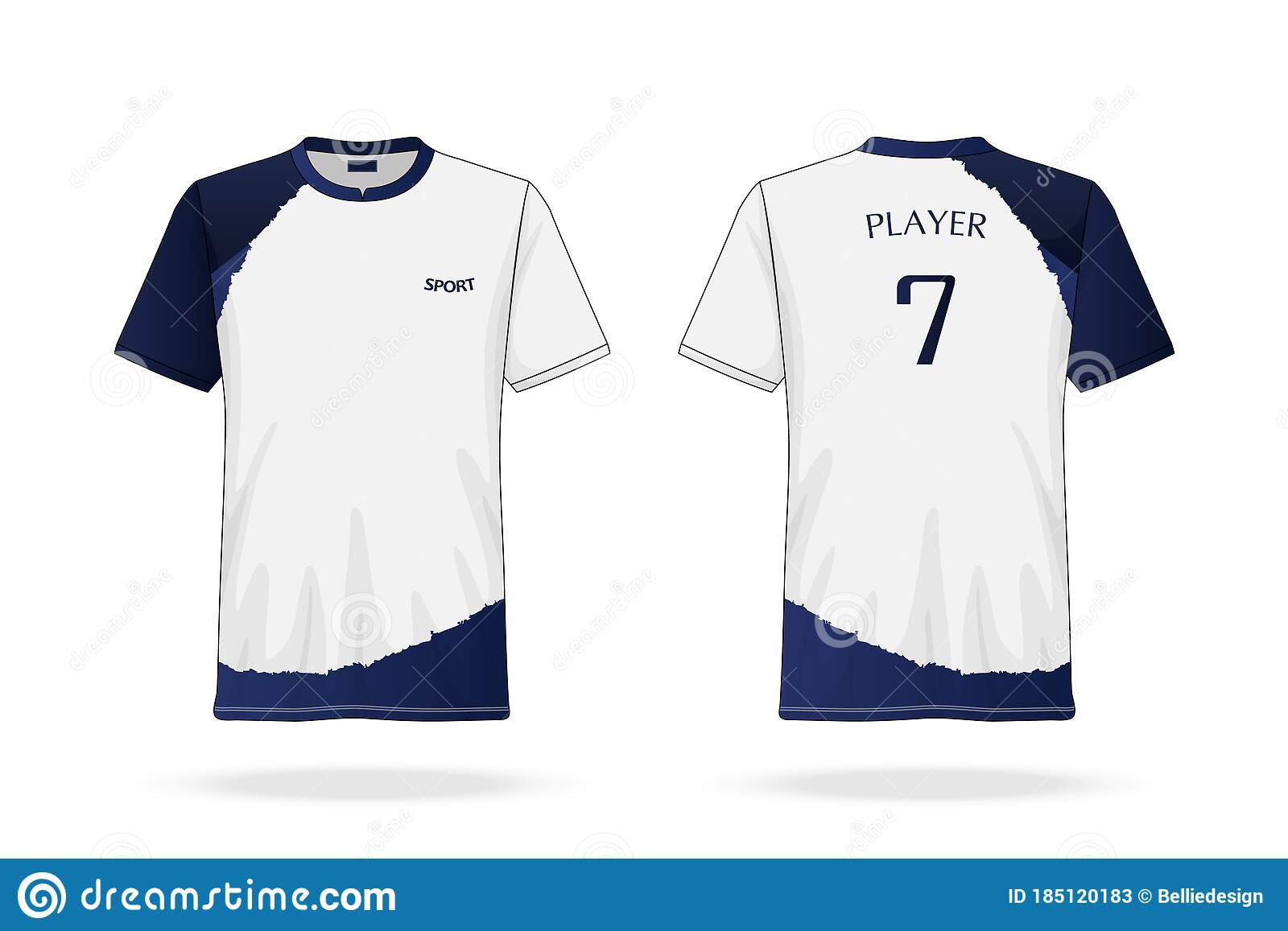Pngtree offers over 496 esport. Specification Soccer Sport Esport Gaming T Shirt Round Neck Jersey Template Mock Up Uniform Vector Illustration Stock Vector Illustration Of White Esports 185120183