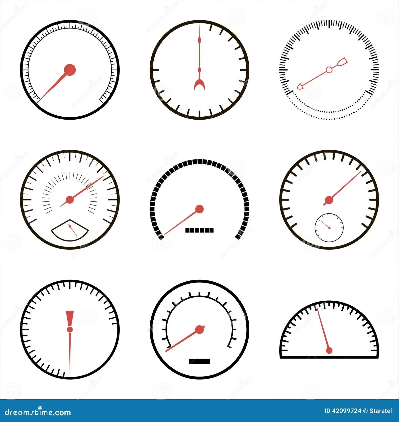 Speedometer Icons Stock Vector Illustration Of Auto