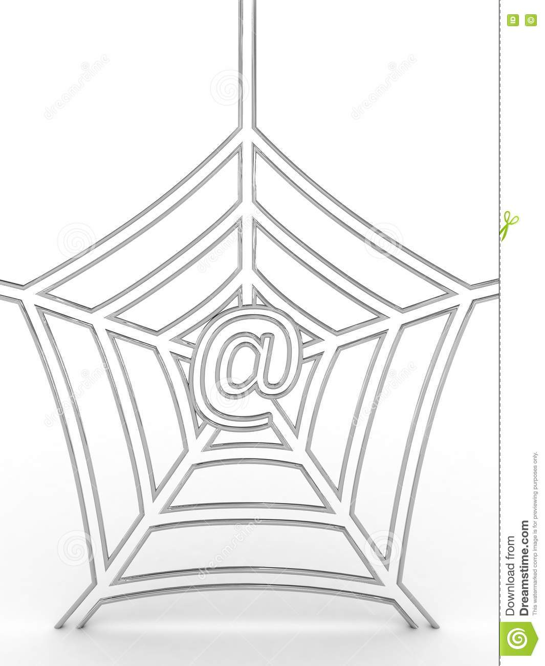 Spider S Web With Symbol At Stock Photography