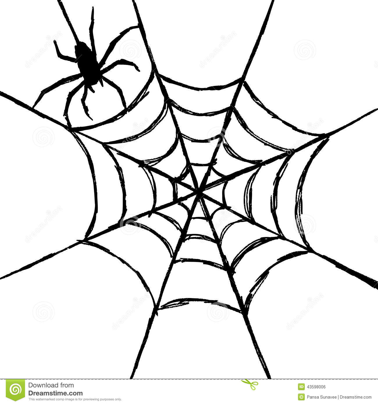 Spider And Web Stock Vector