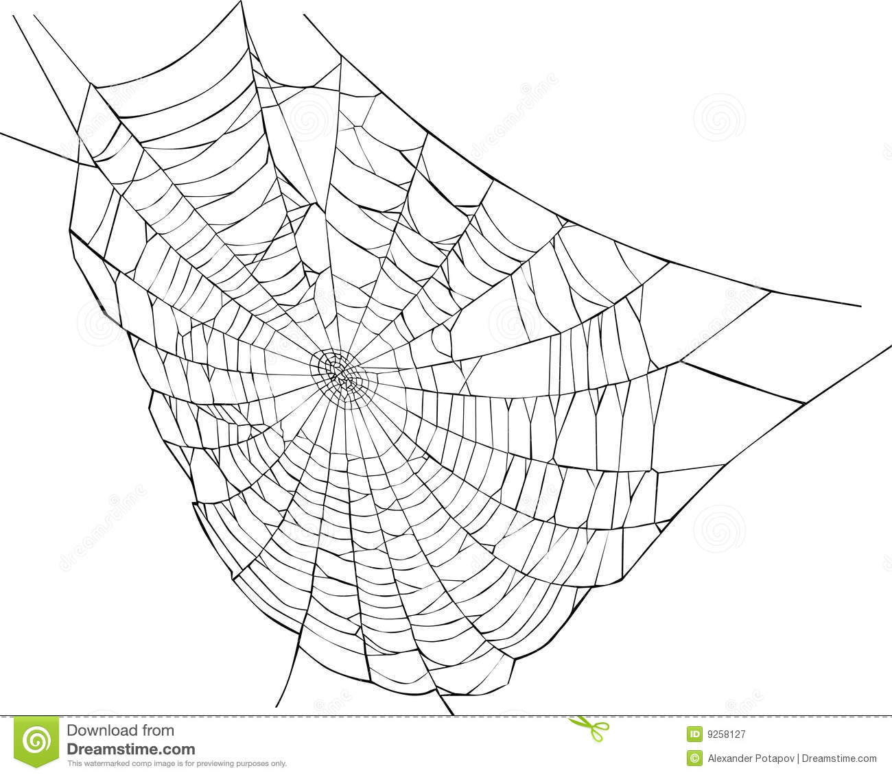 Spider Web Illustration Royalty Free Stock Photography