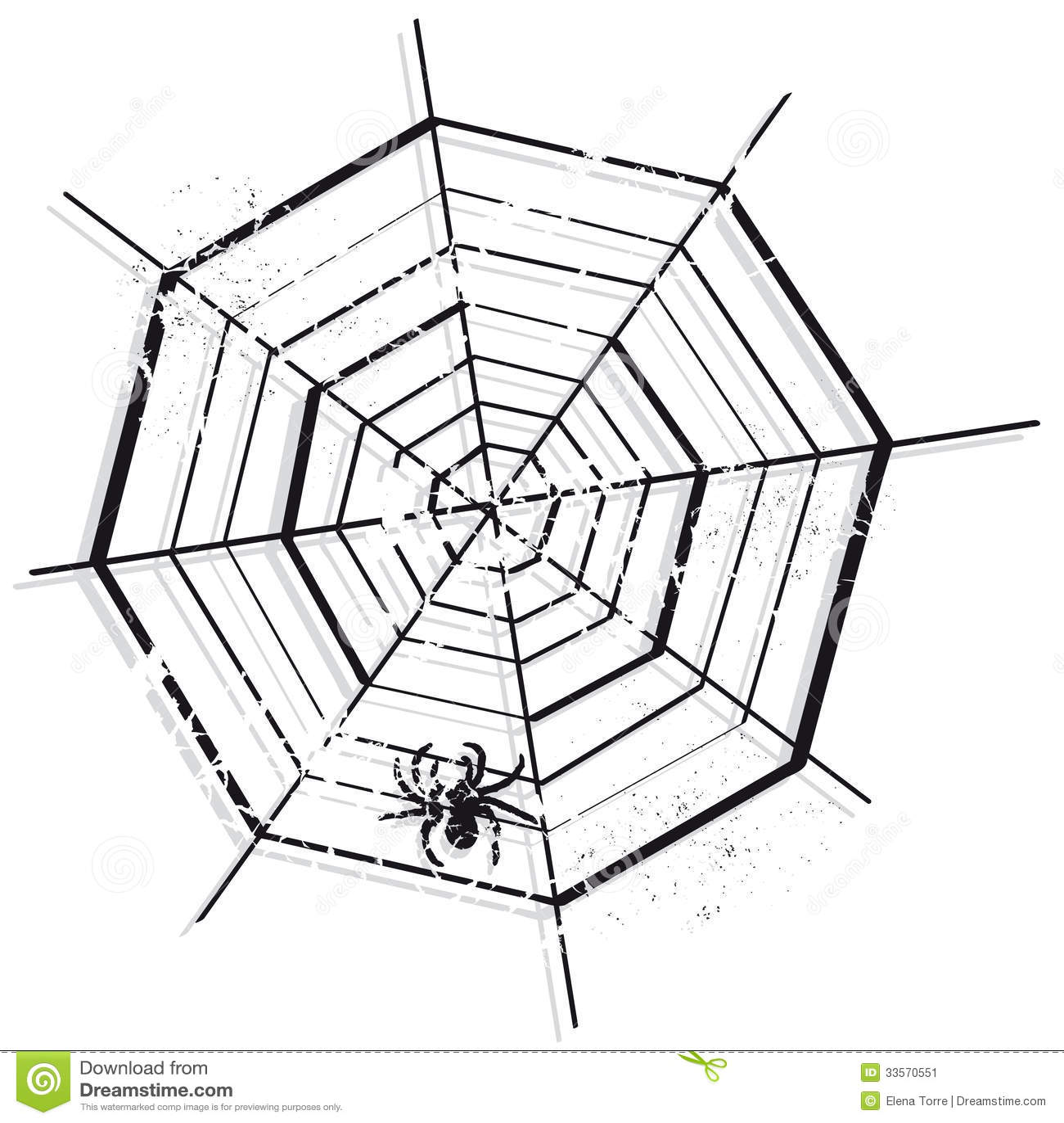 Spider Web Vector Stock Vector Illustration Of Black