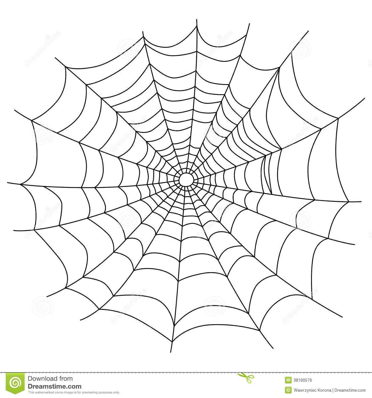 Spider Web Isolated On White Stock Vector