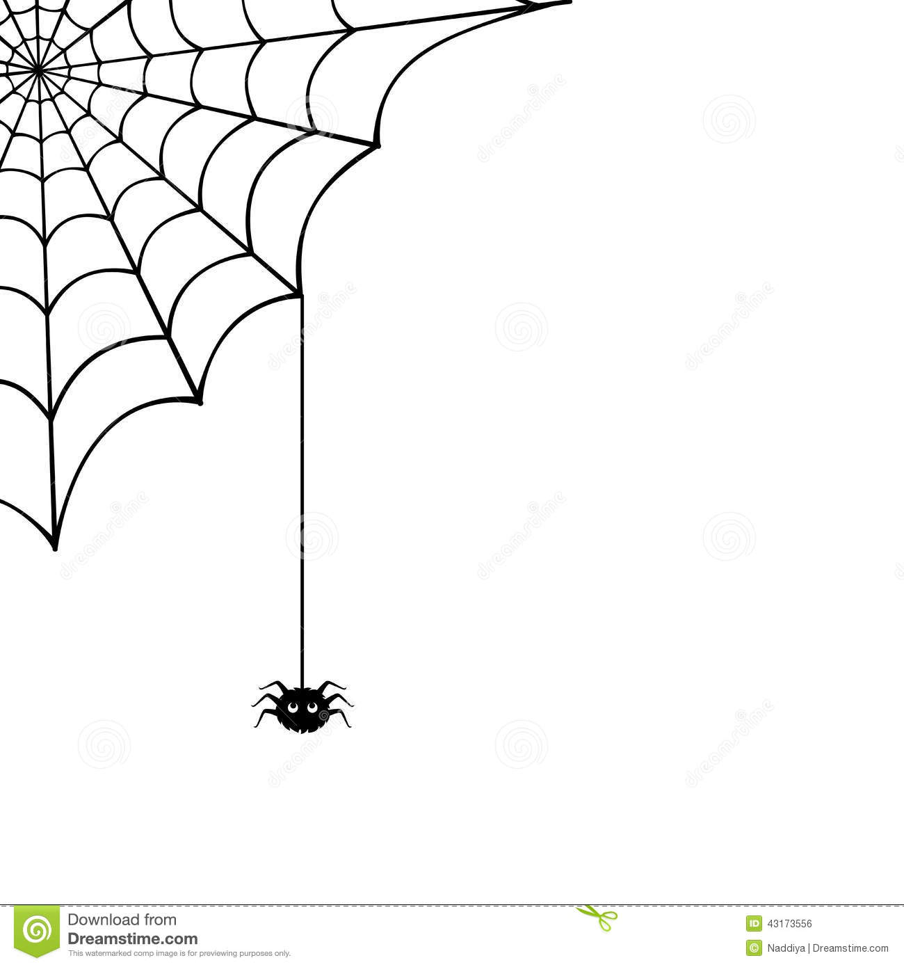 Spider Web And Spider Vector Illustration Stock Vector