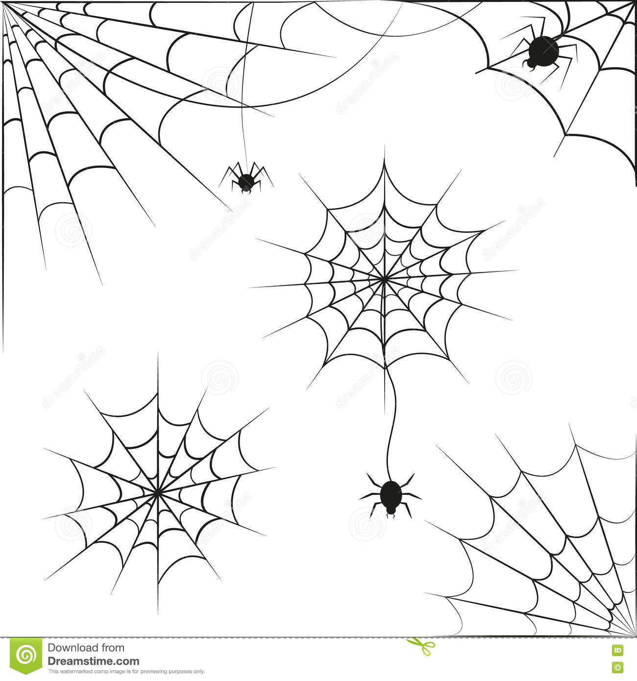 Spider Web On White Background Vector Stock Vector