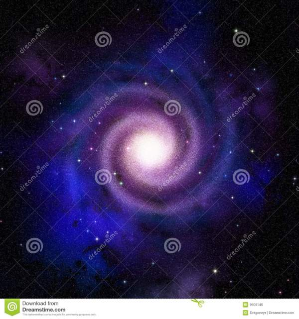 Spiral galaxy top view stock illustration Illustration of