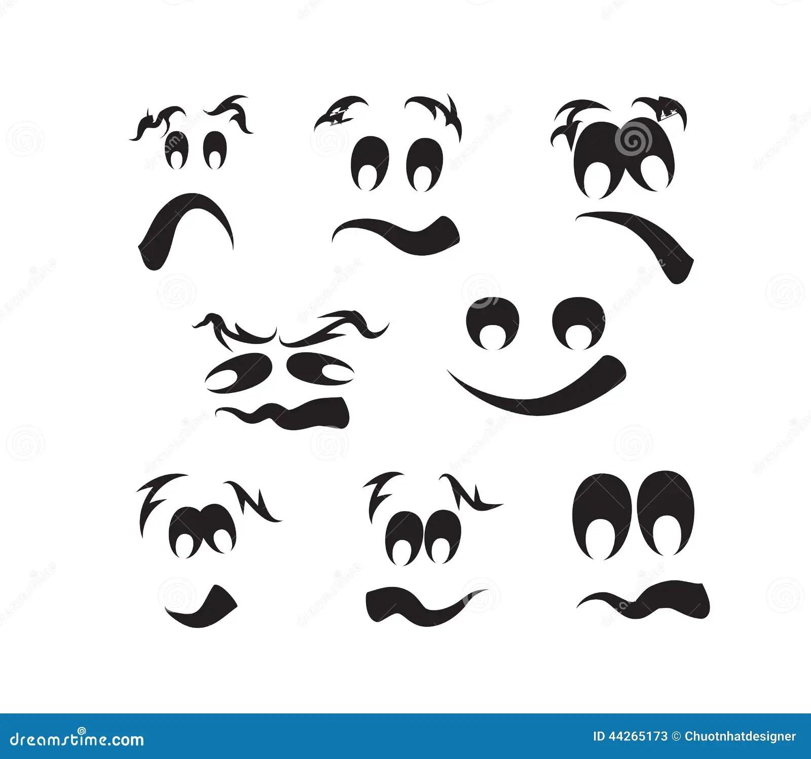 Spookgezichten Pompoengezichten Vector Illustratie