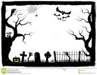 halloween border black and white