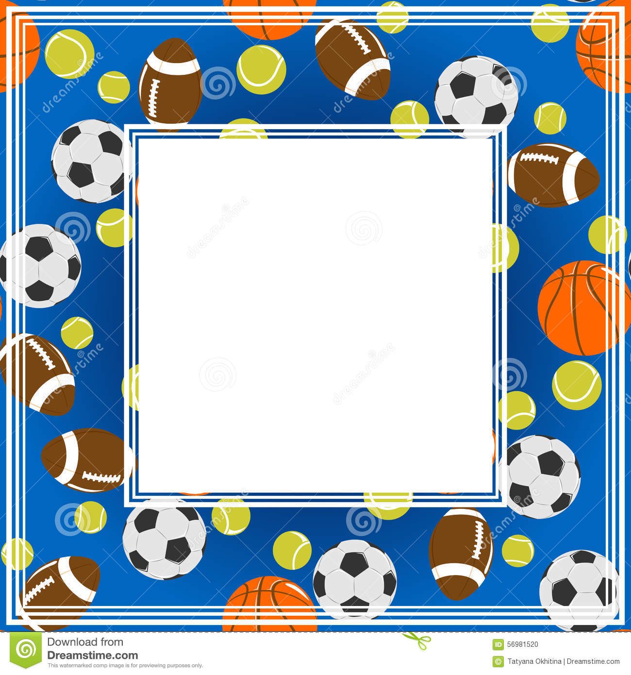 Sport border stock vector Illustration of play stylized