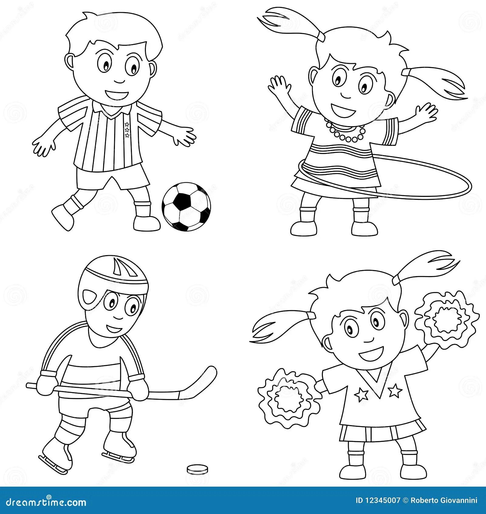 Sport Di Coloritura Per I Bambini 2 Illustrazione