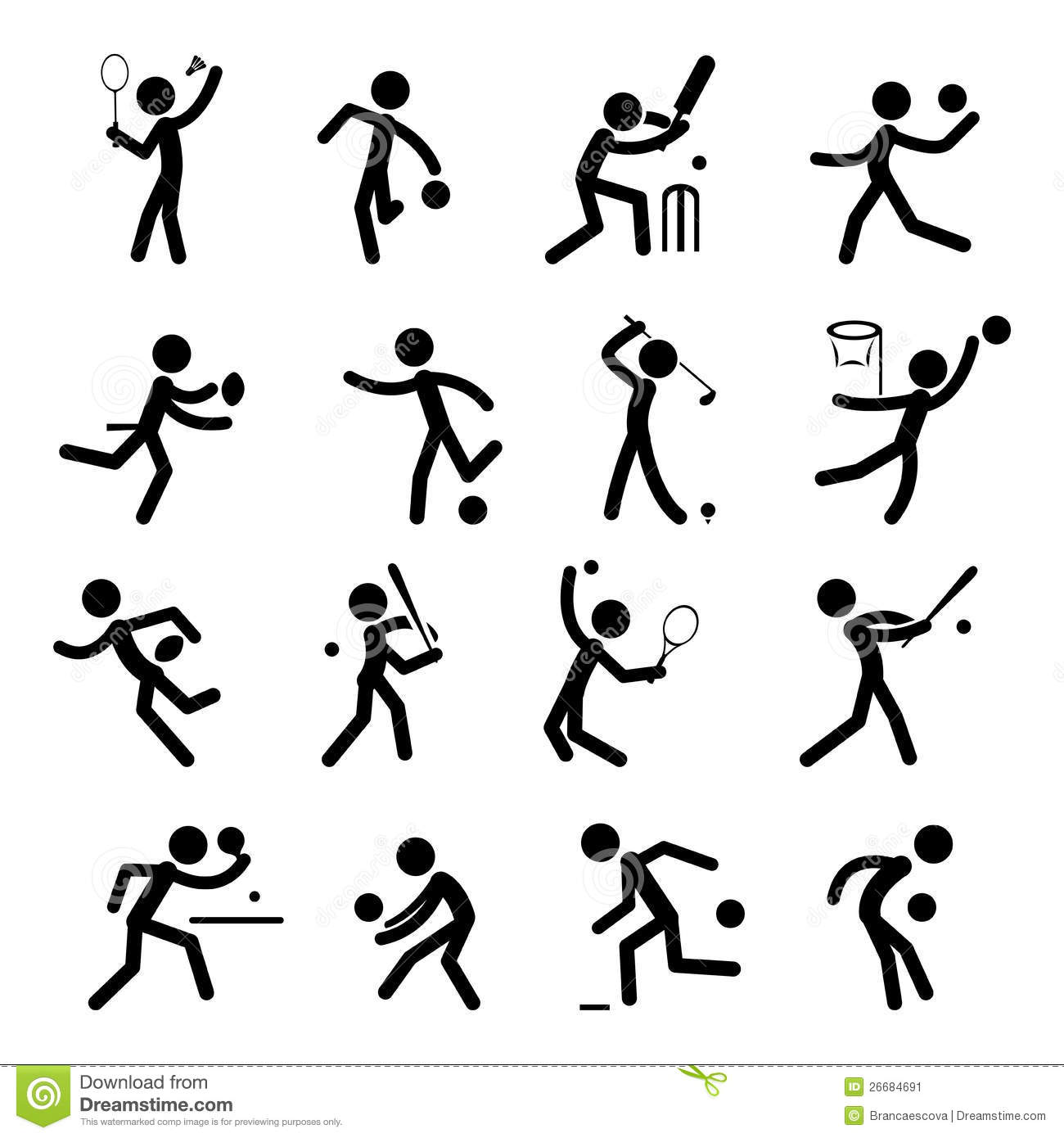 Sport Pictogram Icon Set 01 Stock Vector