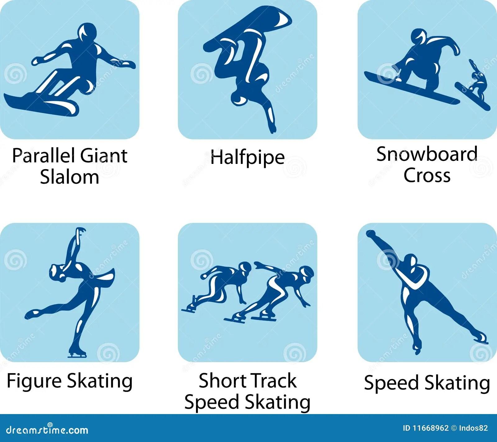 Sport Pictograms Stock Vector Illustration Of Clip
