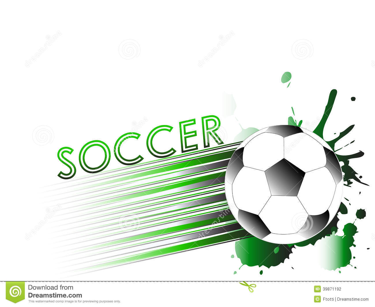 Sport Template With Soccer Football Ball Stock Vector
