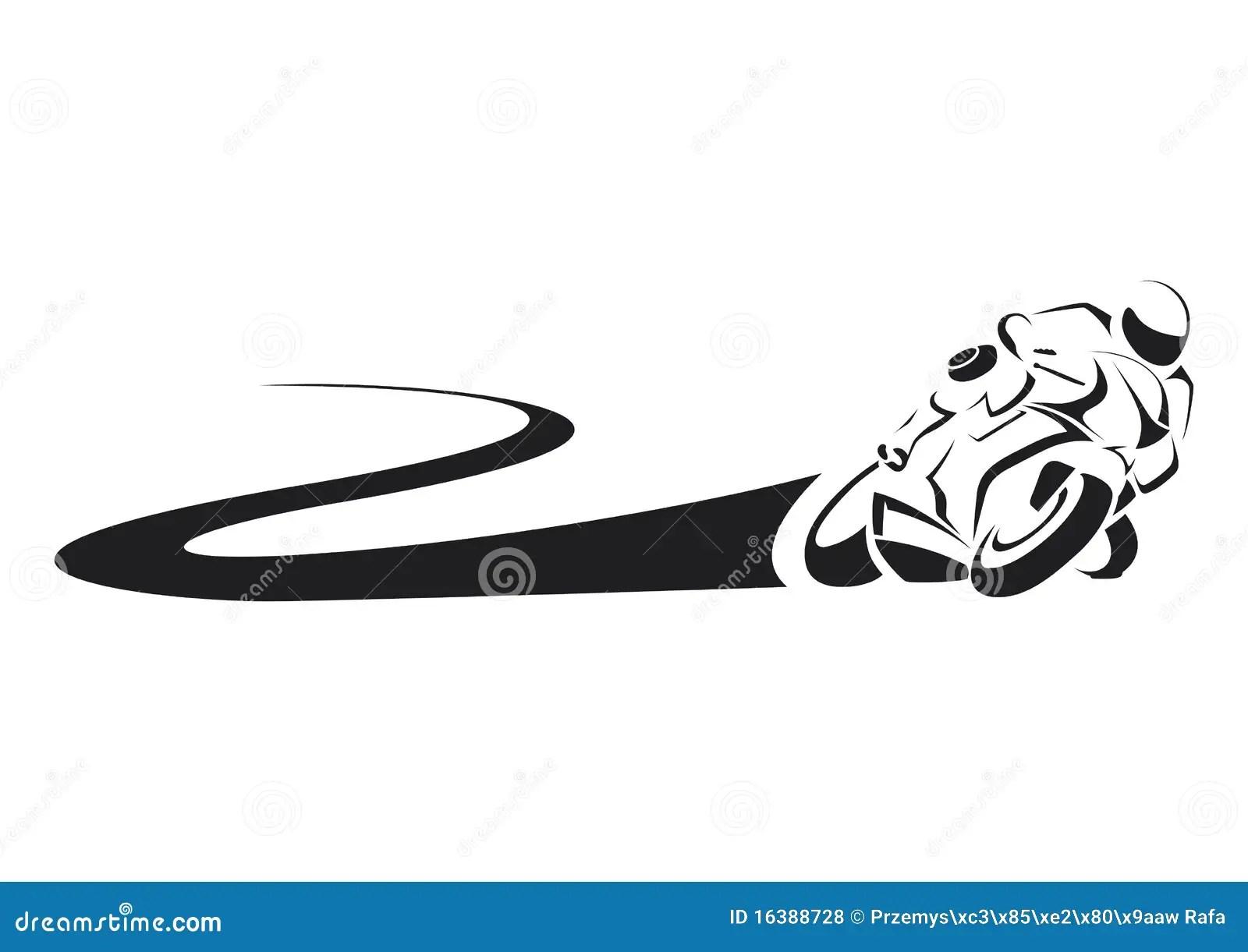 Sportbike En Pista Ilustracion Del Vector Ilustracion De