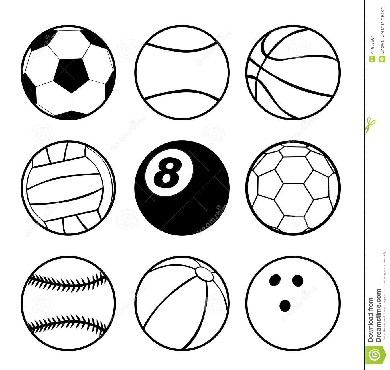Sports Balls Stock Vector Illustration Of Icon Vector
