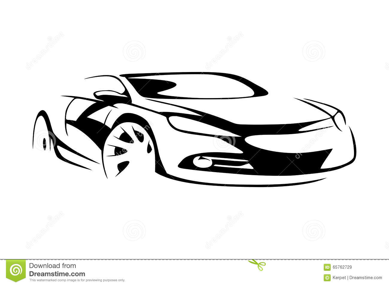 Sports Car Silhouette Stock Vector Illustration Of Speed