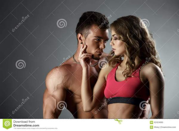 Sports And Love. Attractive Heterosexual Couple Stock ...