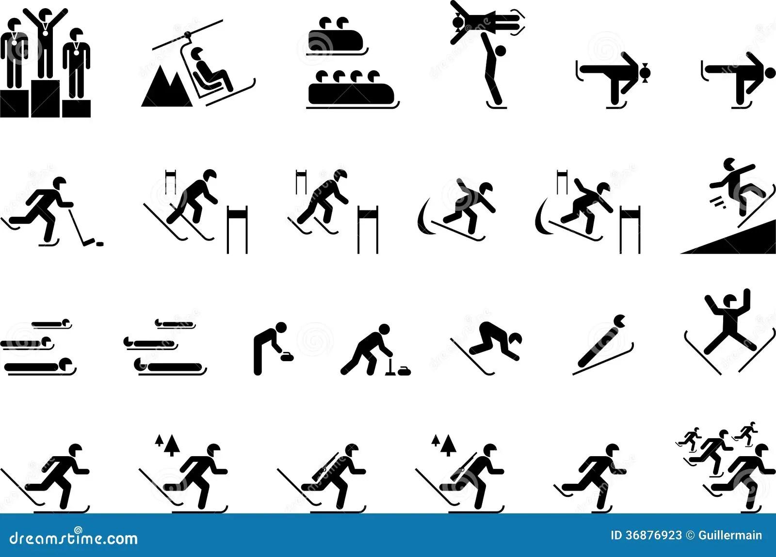 Sports Olympiques D Hiver Illustration De Vecteur