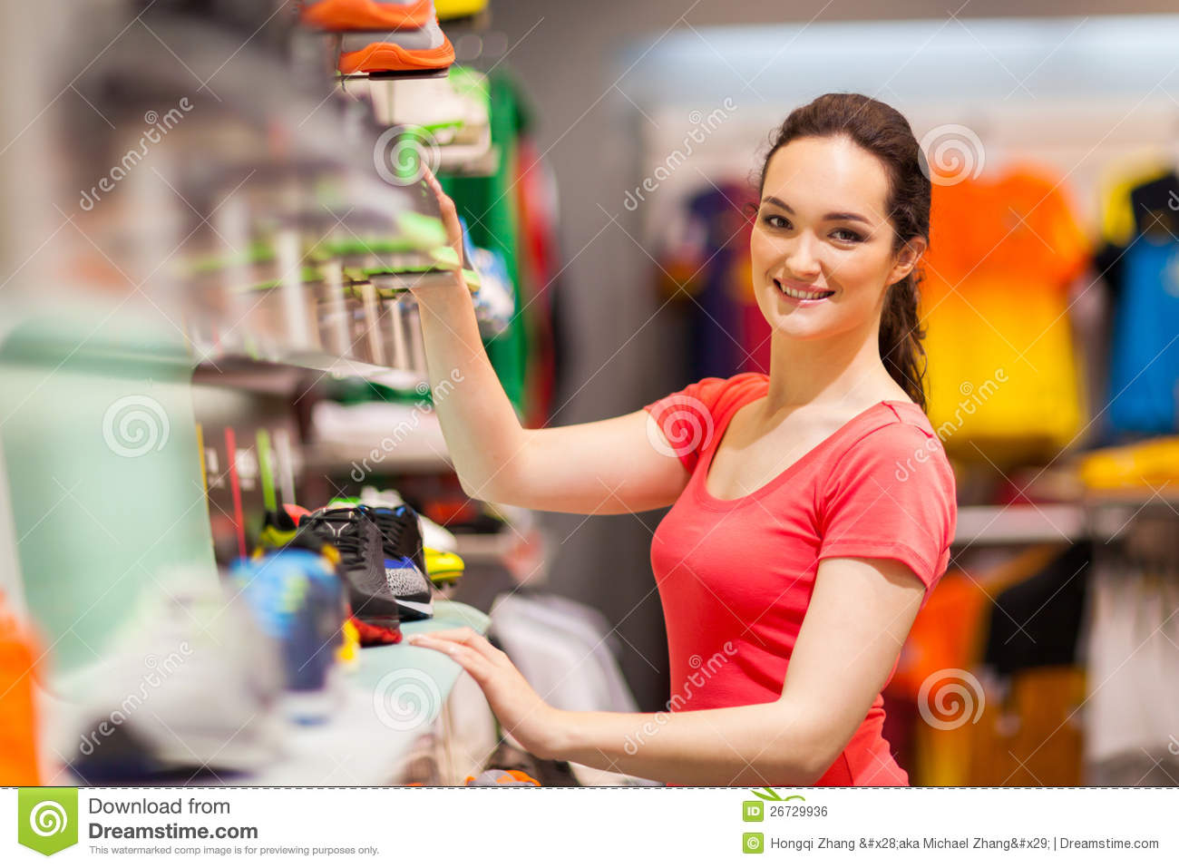 Sportswear Shop Assistant Royalty Free Stock Image Image