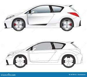 Sporty Car Illustration Vector Stock Vector  Illustration of caliper, pact: 3678072