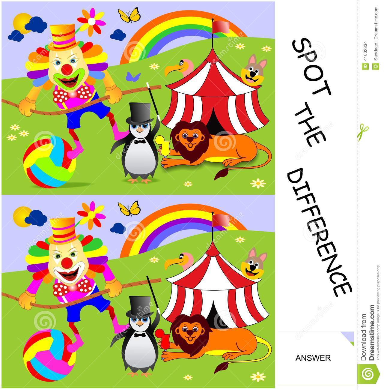 Spot The Difference Stock Vector